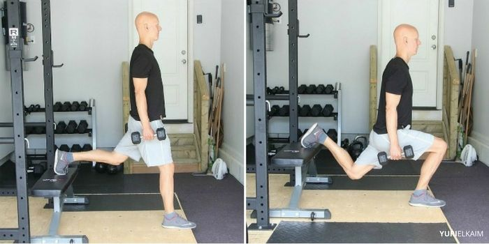 Dumbbell Bulgarian Lunge