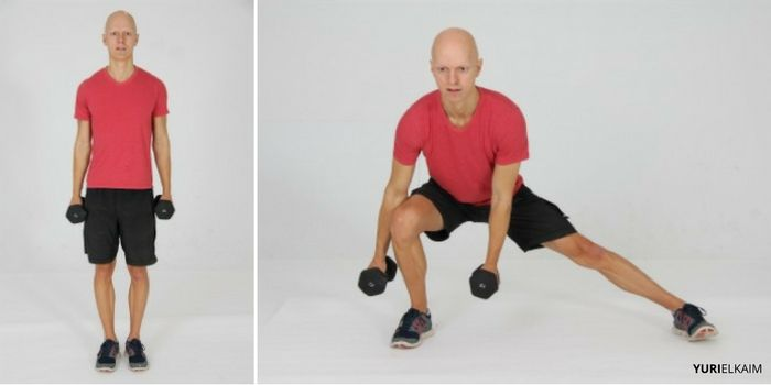 Dumbbell Lateral Lunge