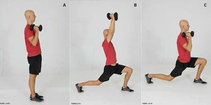 The Lunge Press Sequence (Side View)