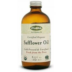 bottle of safflower oil