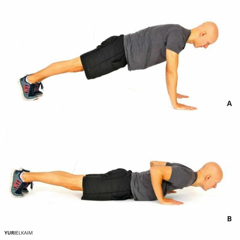 Beginner Push-up Variation - Negative Push-up
