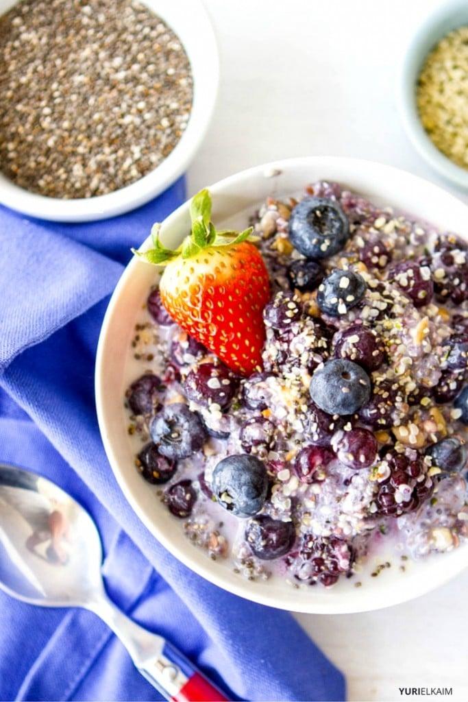 Blueberry Fiber Starter Breakfast Bowl
