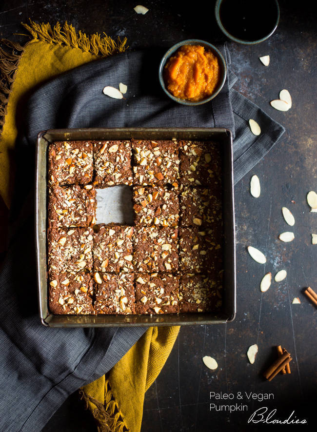 Pumpkin Blondies - Food Faith Fitness