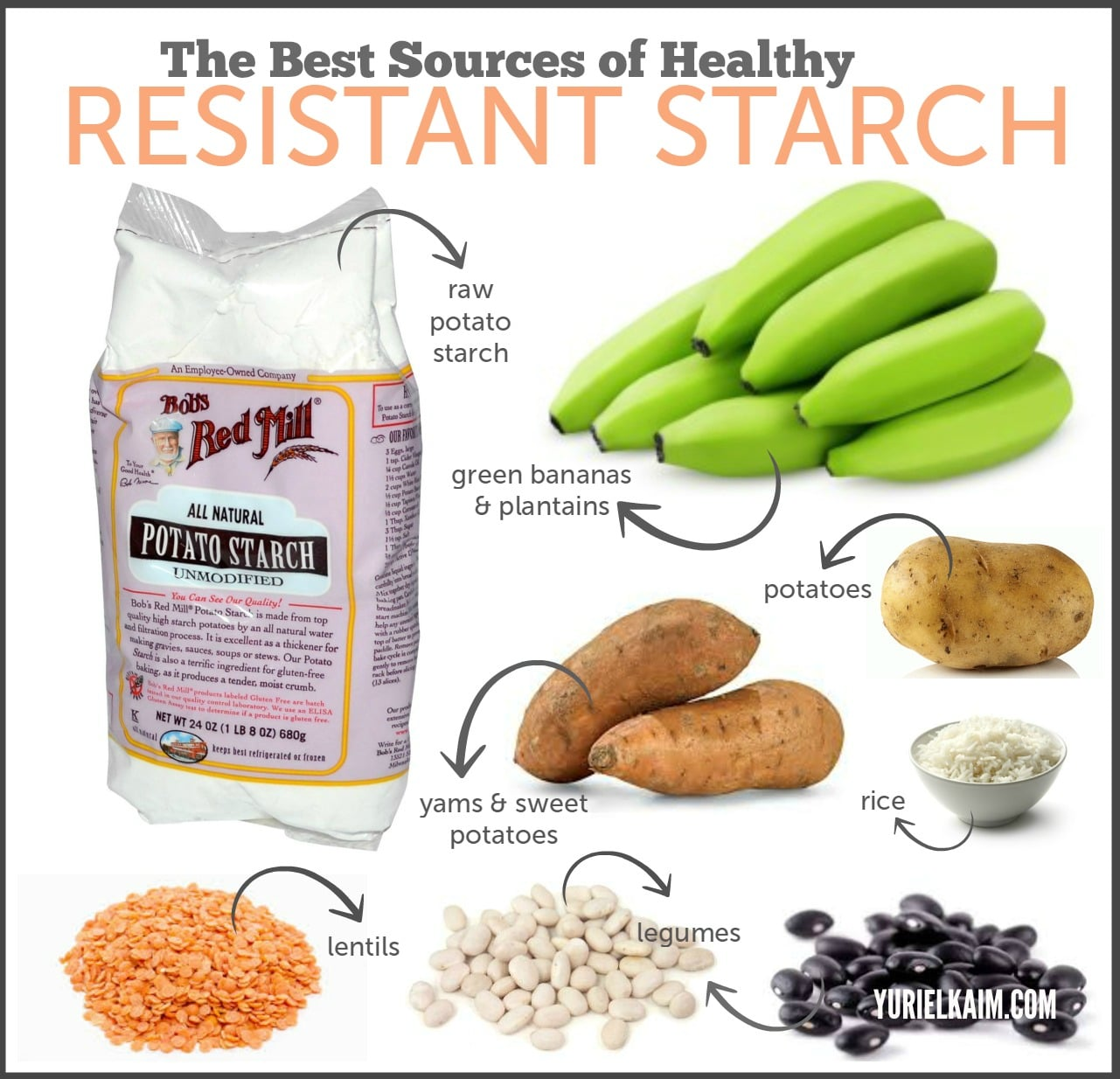 Foods high in resistant starch carbs