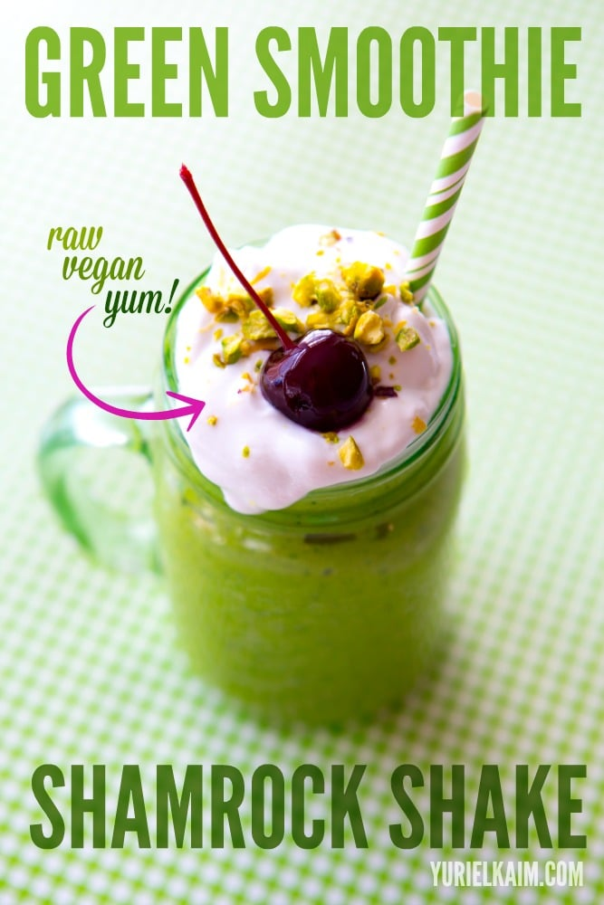 Healthy Shamrock Shake- Vegan, Raw, Paleo....and delicious!