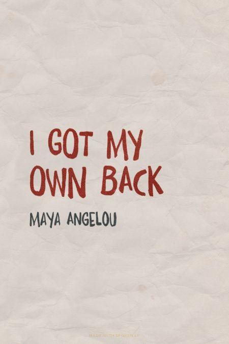 i-got-my-own-back