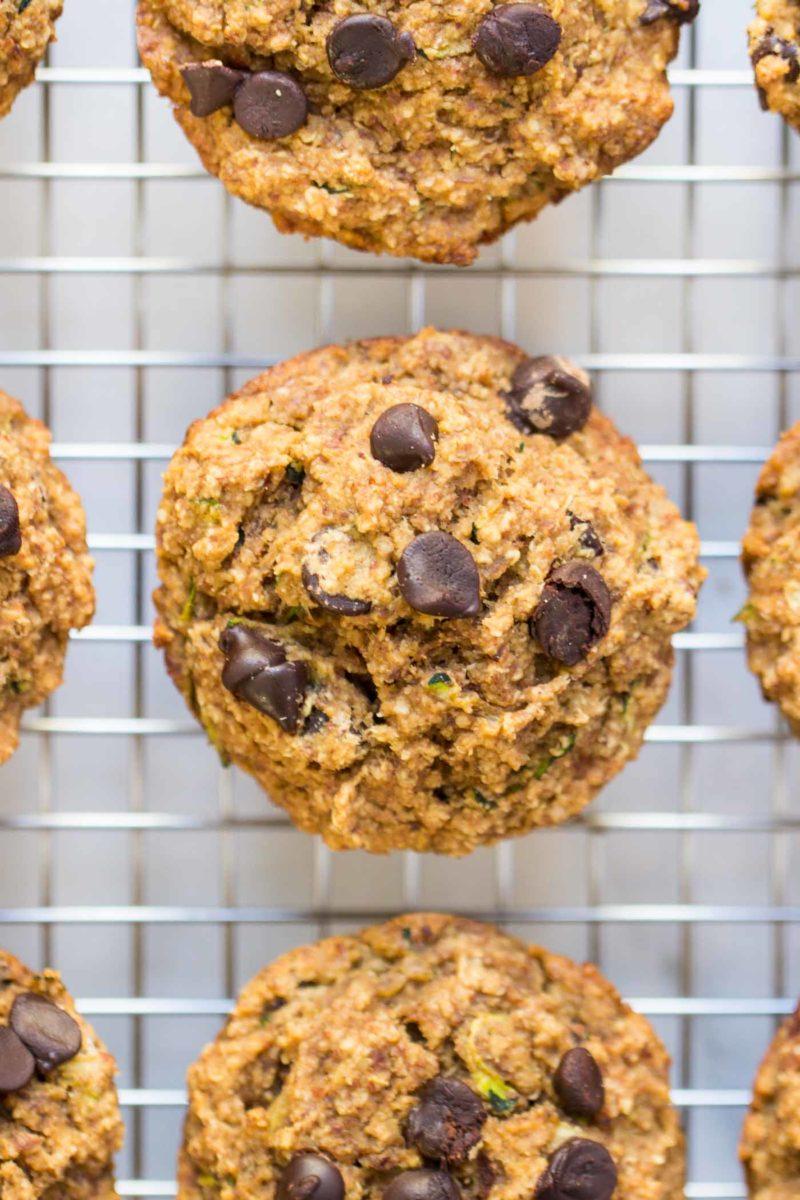 Chocolate Chip Zucchini Quinoa Muffins via Simply Quinoa