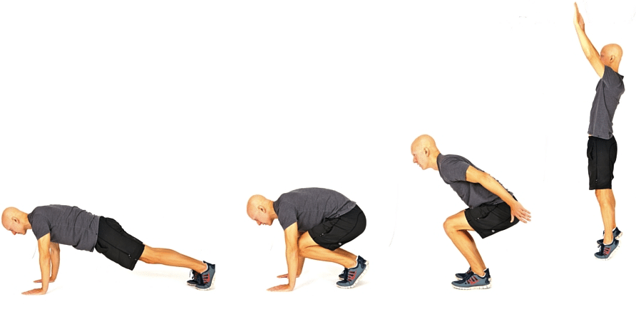 8 No-Equipment Bodyweight Exercises - Burpees