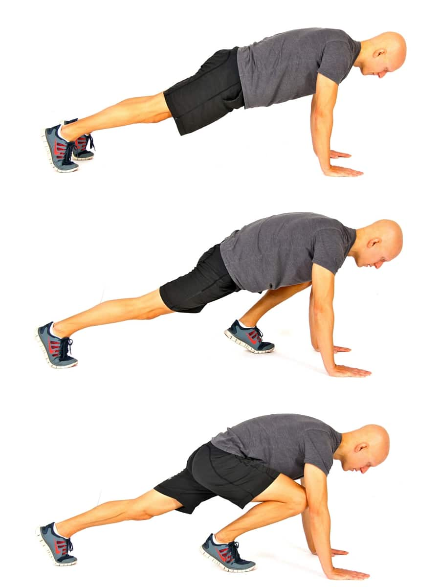 8 No-Equipment Bodyweight Exercises - Mountain Climbers