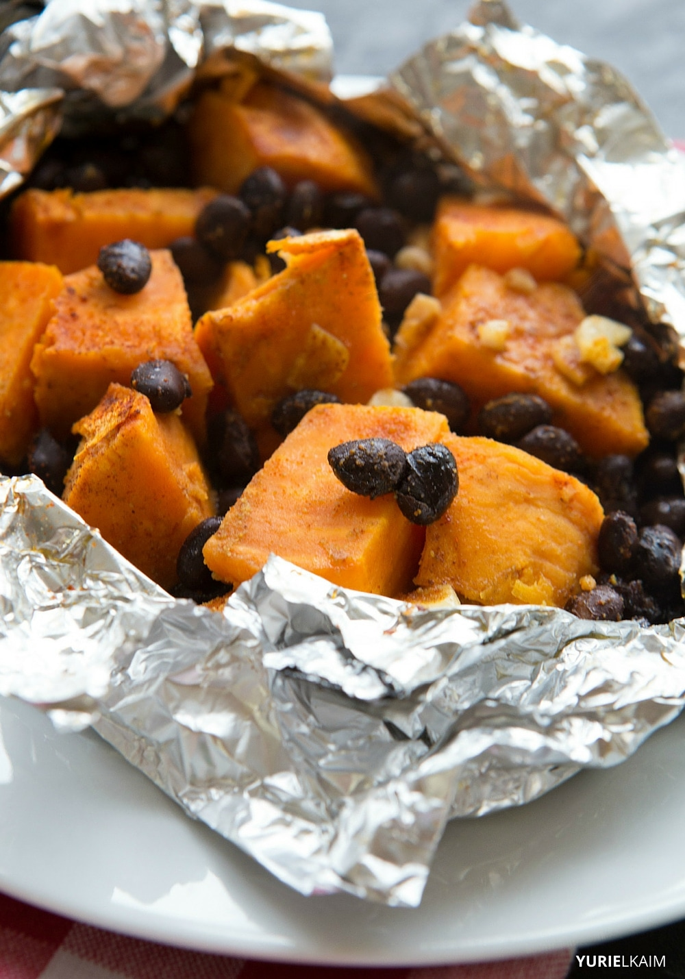 BBQ Sweet Potato Foil Packs