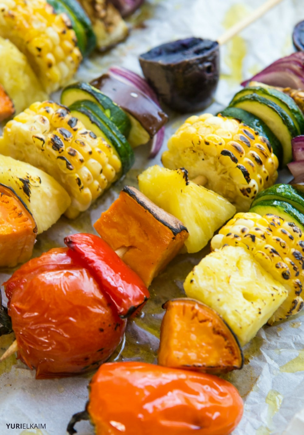 Rainbow Veggie Kabobs on the Grill