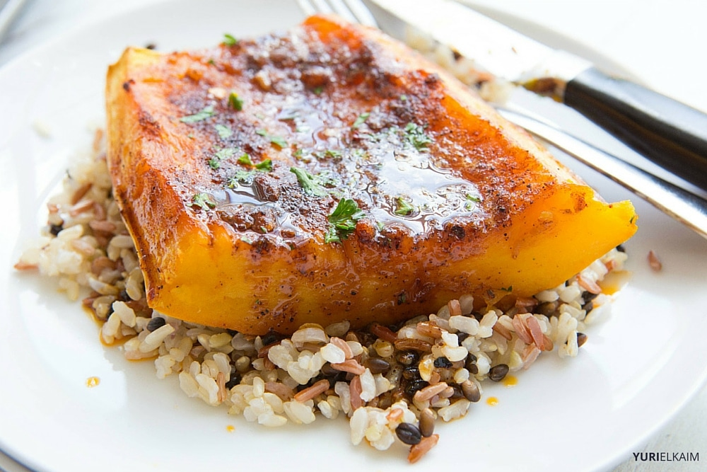 BBQ Butternut Squash Steaks
