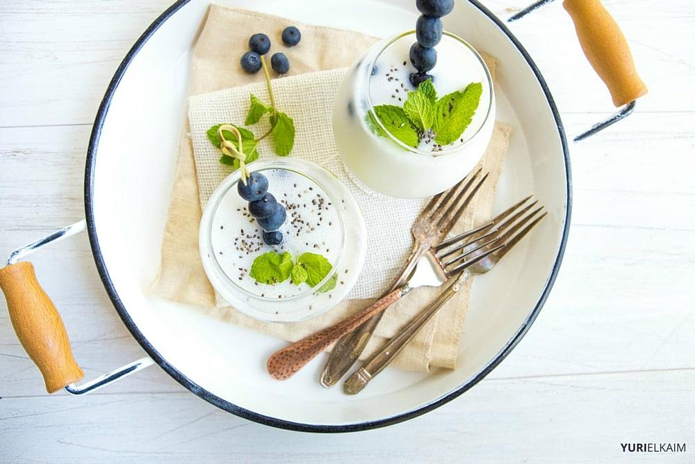 Healthy Blueberry Bubble Milk Tea Smoothie