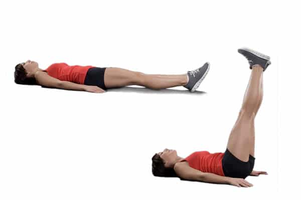10 Worst Ab Exercises - Supine Leg Raises