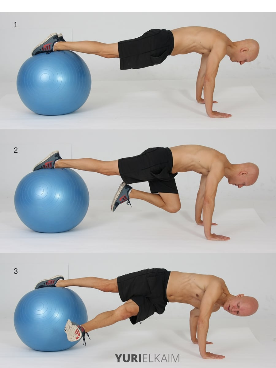 15 Best Bodyweight Exercises - Stability Ball Grasshopper