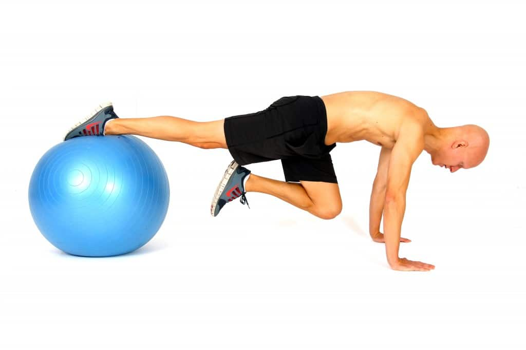 The 14 Best Ab Exercises - Stability Ball Sprint Start Shuffle