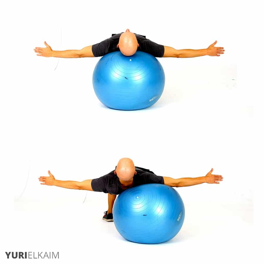 Best Glute Exercises - Stability Ball Lateral Crab Walks