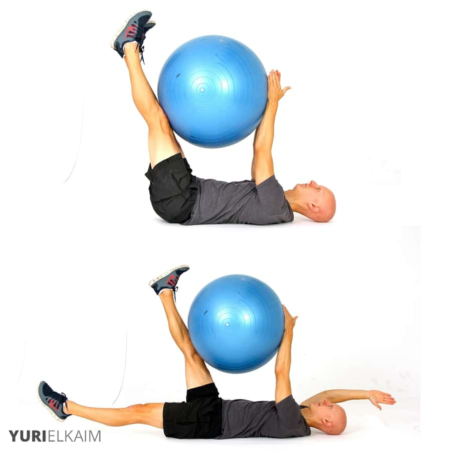 The Best Stability Ball Exercises for Core Training - Stability Ball Straight Leg Deadbug