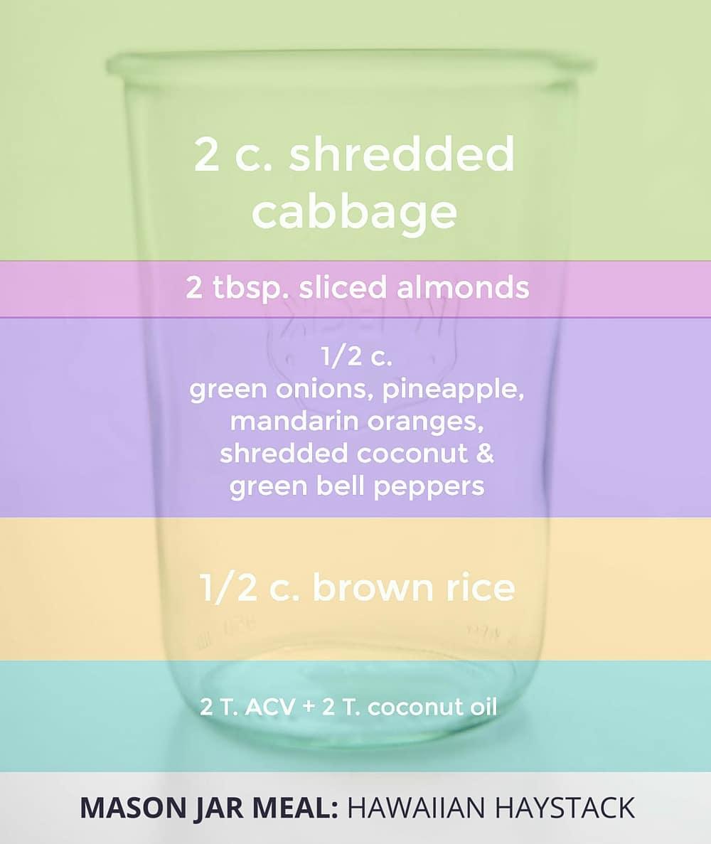 10 Mason Jar Meals That Make Healthy Eating Easy - Hawaiian Haystack