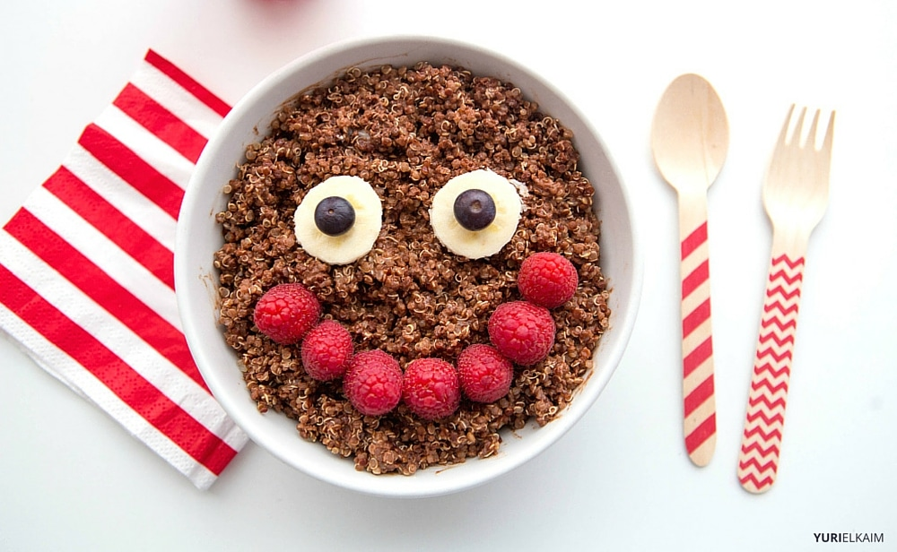 Chocolate Quinoa Healthy Breakfast Bowl for Kids