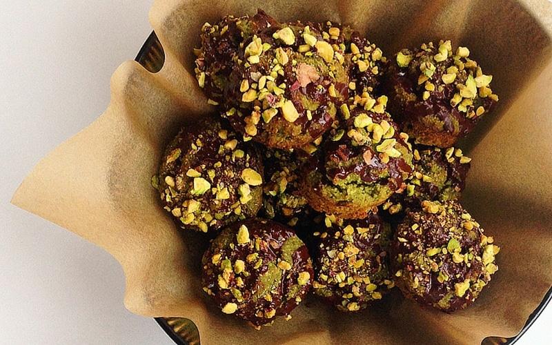 Paleo Mini Matcha Muffins