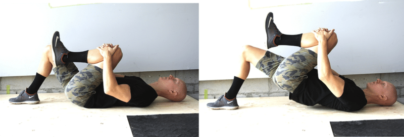 Best Glute Exercises - Knee Tuck Hip Bridge