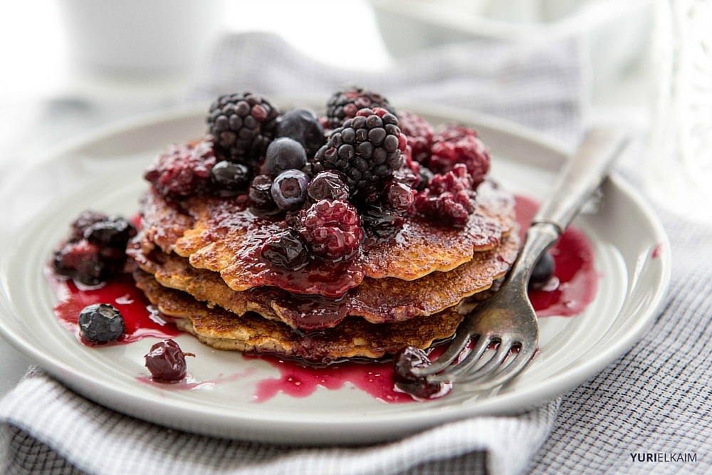 3-Ingredient Protein Powder Pancakes