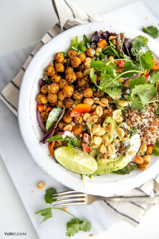 Chickpea Thai Quinoa Bowl