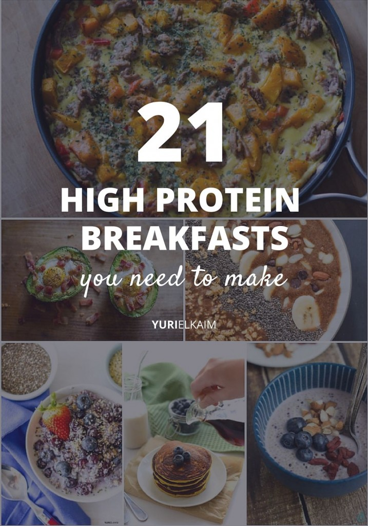 21 Healthy High Protein Breakfasts You Need to Make