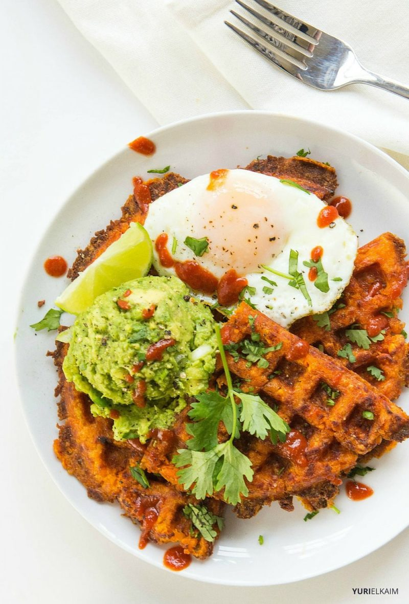 3-Ingredient Paleo Sweet Potato Waffles - Yuri Elkaim