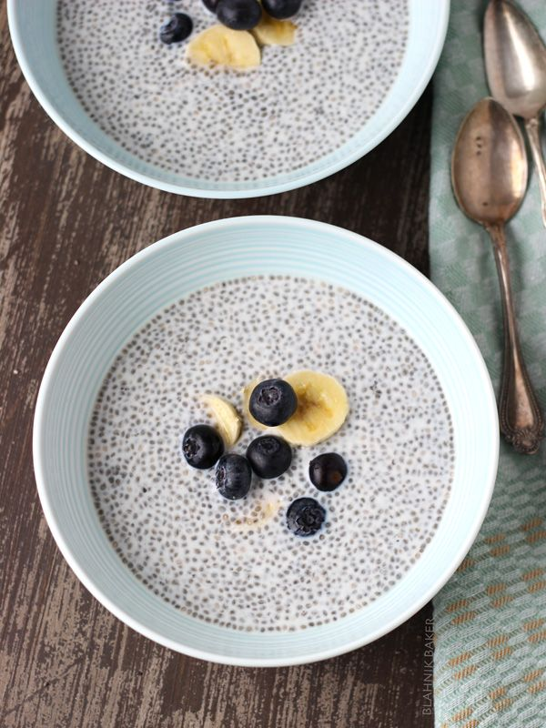 Blueberry Almond Chia Pudding - Joyful Healthy Eats