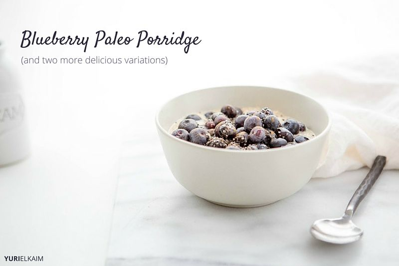 Blueberry Almond Paleo Porridge