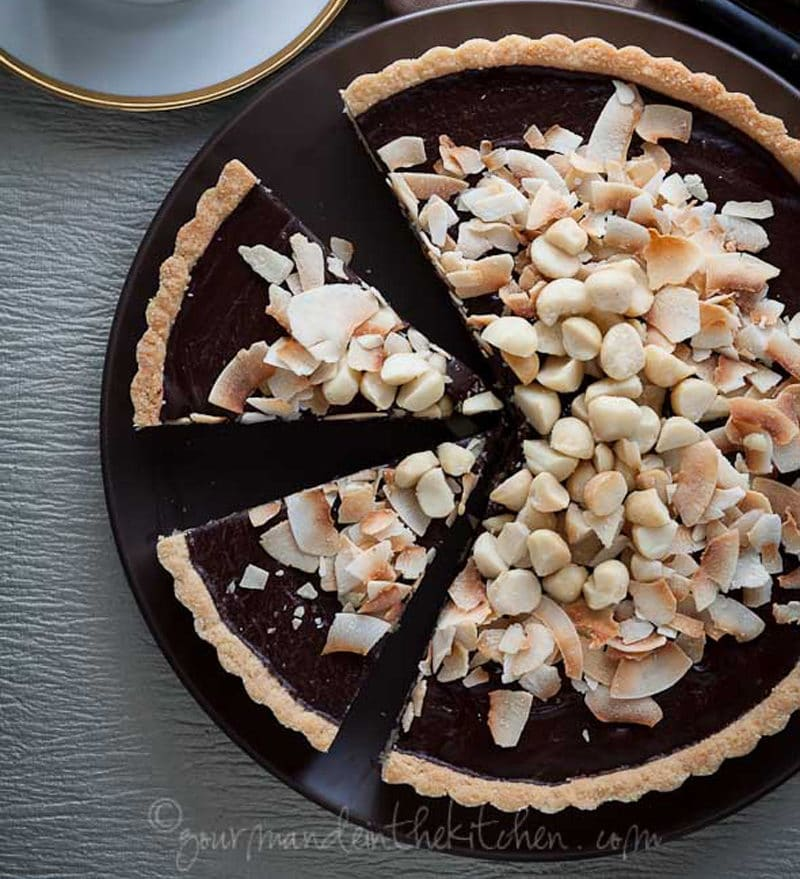 Chocolate Coconut Tart - Gourmande in the Kitchen
