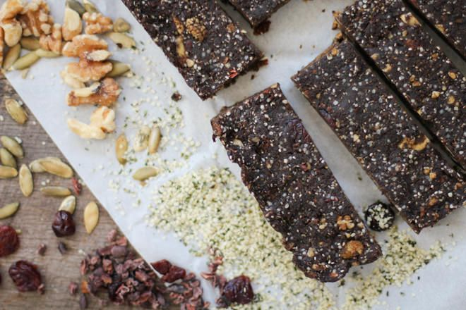 With Vegan Diet Athletes Improve Health And Thrive-Cocoa Superfood Hemp Bars - @nutritionstripped