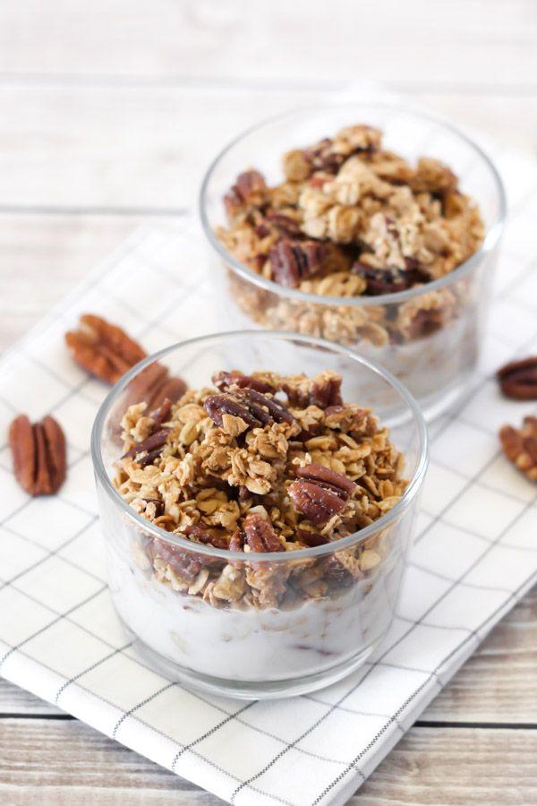 Gluten-Free Maple Pecan Granola - Sarah Bakes Gluten Free
