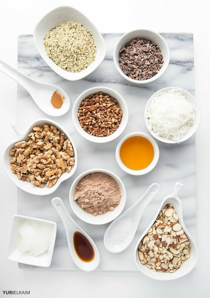 Homemade Granola Cereal Ingredients