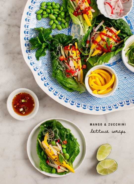 Mango Zucchini Lettuce Wraps - Love and Lemons