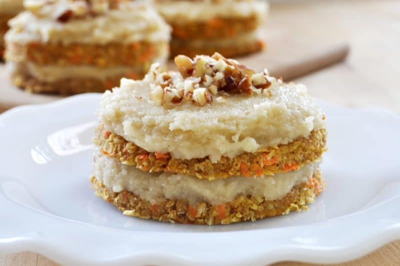 The Healthy Raw Desserts You Have Been Waiting For-Raw Carrot Cake Vegan - The Colorful Kitchen
