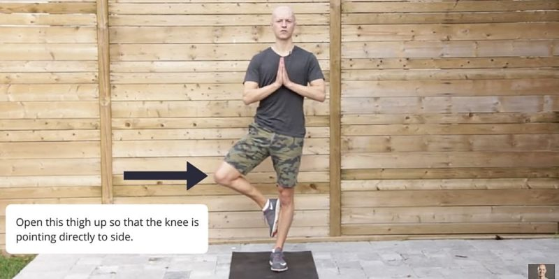 Tree Pose Yoga Posture Fix