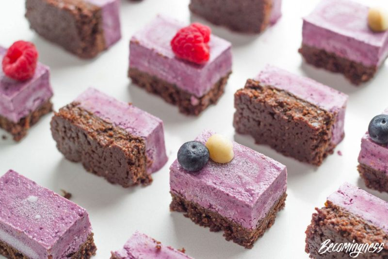 Triple Berry Raw Vegan Slice - Becomingness