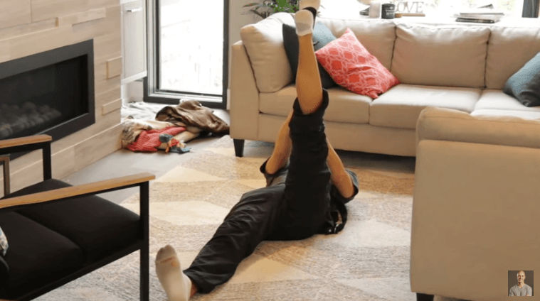 Yoga Strap Stretches - Lying Down Hamstring Stretch