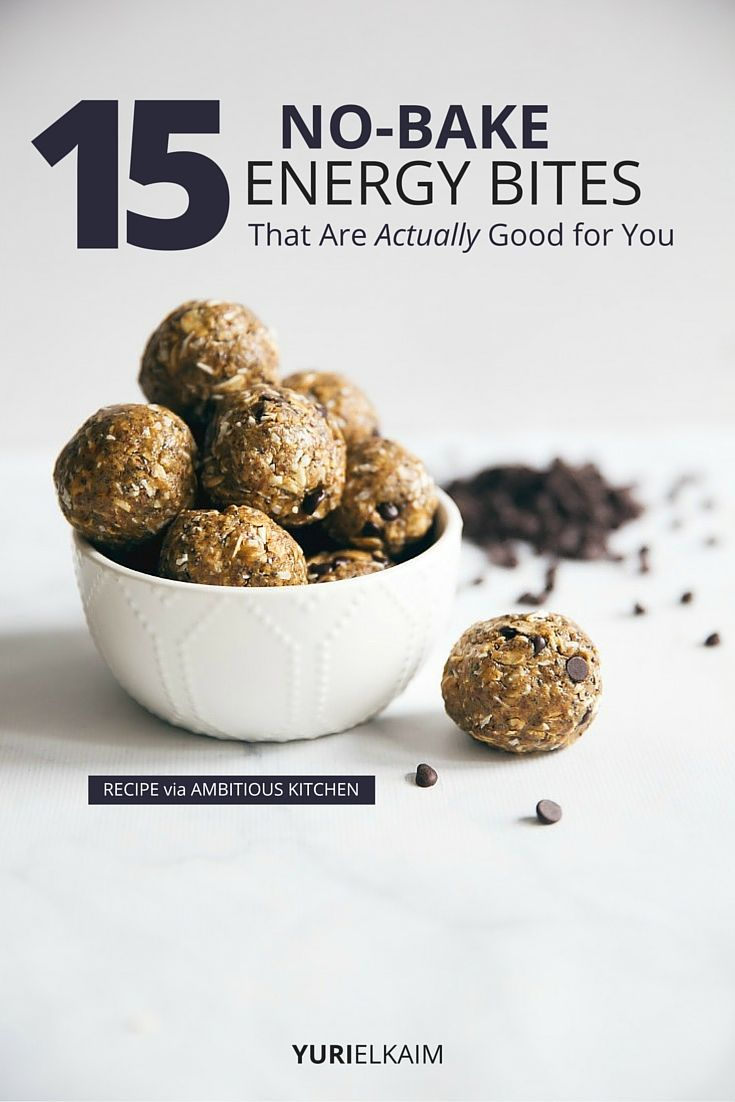 15 No Bake Energy Bites That Are Actually Good For You