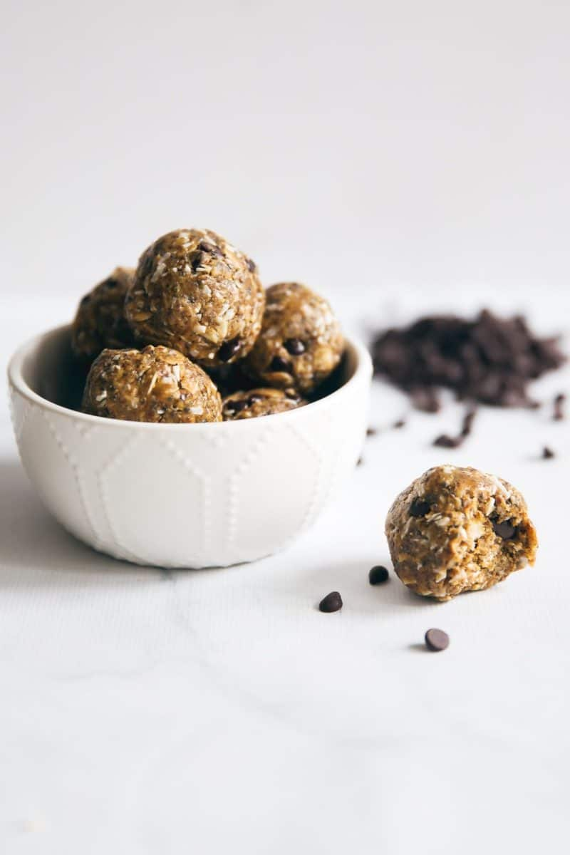 Protein Peanut Butter Energy Bites via Ambitious Kitchen