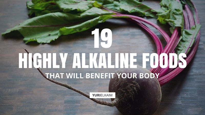 alkaline promoting foods