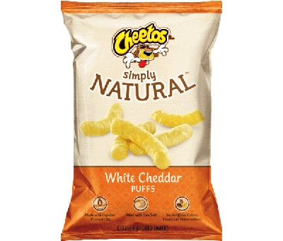 Bag of Cheetos with Natural Food Label