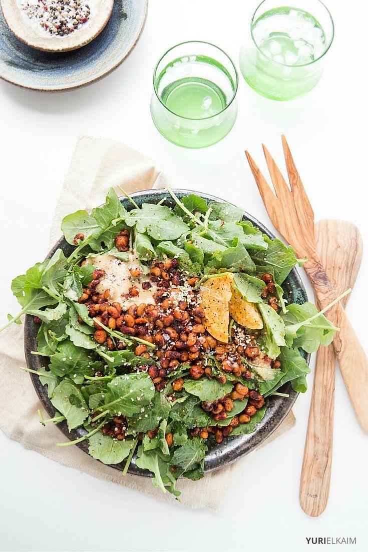Vegan Caesar Salad via Yuri Elkaim