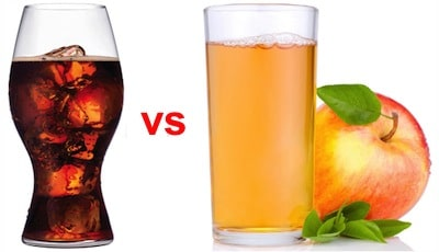Apple Juice vs Coke