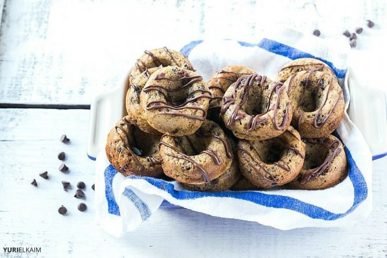 Banana Chocolate Chip Protein Donuts