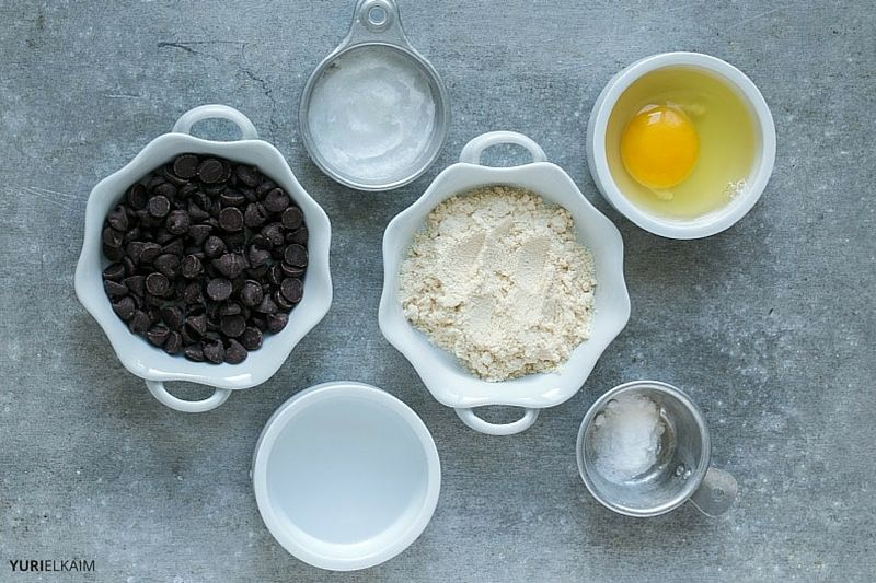 Overhead view of all the Mug Cake Ingredients