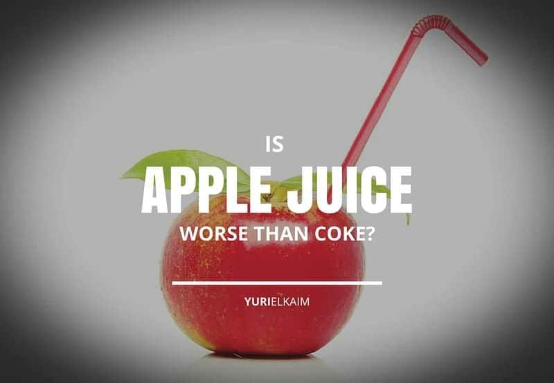 Is Apple Juice Worse Than Coke